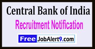 CBI Central Bank of India Recruitment Notification 2017 Last Date 20-05-2017