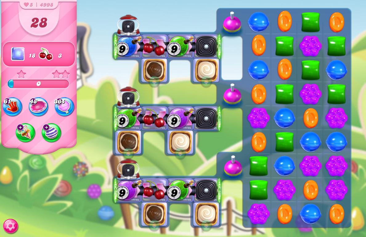 Candy Crush Saga level 4998