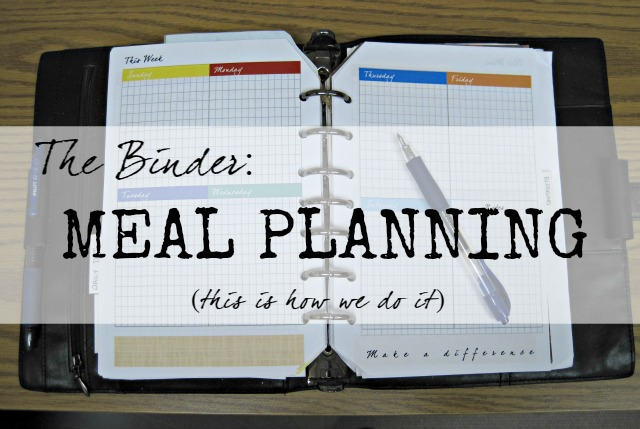 using a paper planner for meal planning