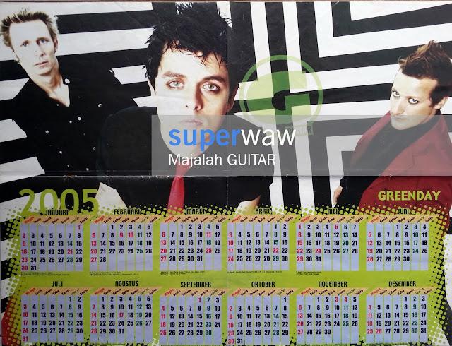 Greenday Kalender 2005