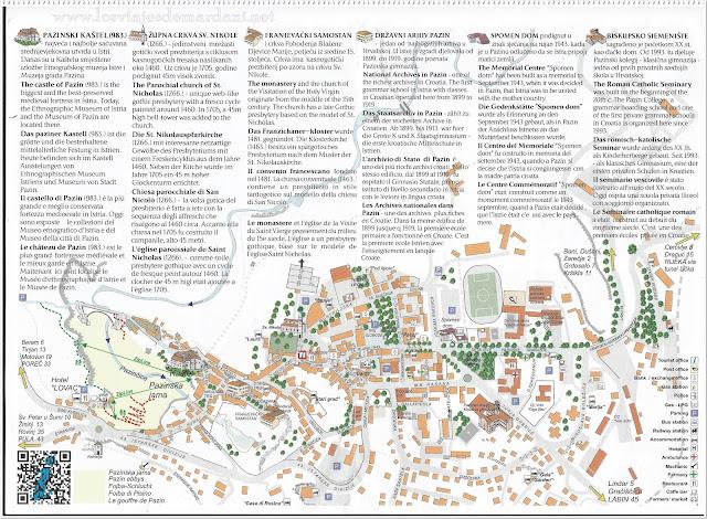 Mapa turístico de Pazin
