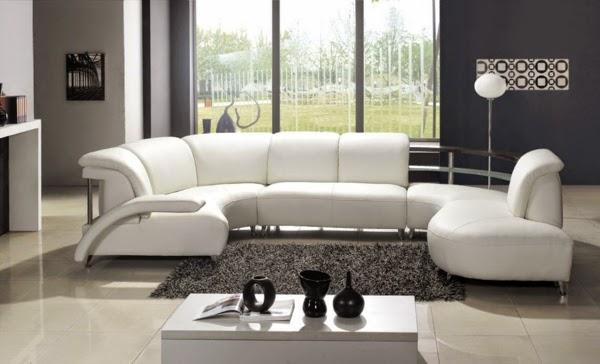 sala moderna blanco y gris