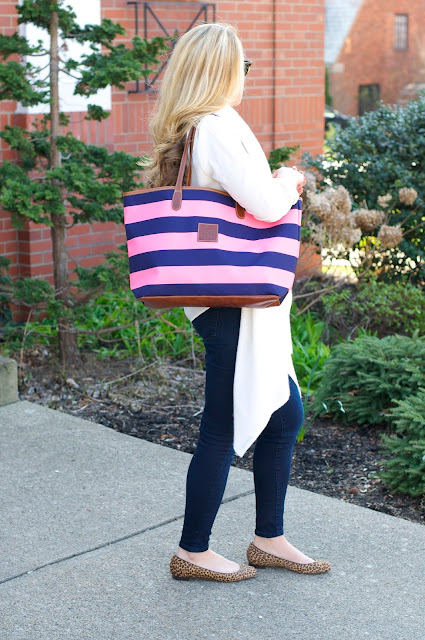 barrington gifts tote and dark wash skinny jeans