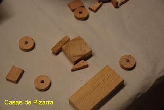 Casas de pizarra coches de madera y tela - Cortar pizarra en casa ...