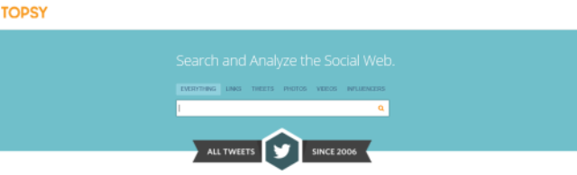 Topsy - busca no twitter para empreendedores e marqueteiros