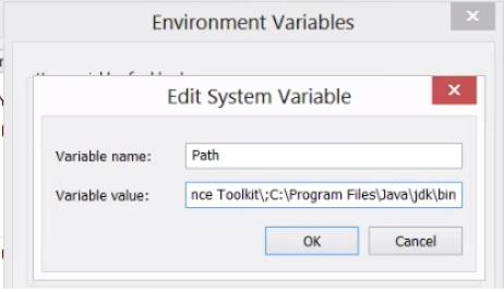 set path environment variable in windows 8 operating system