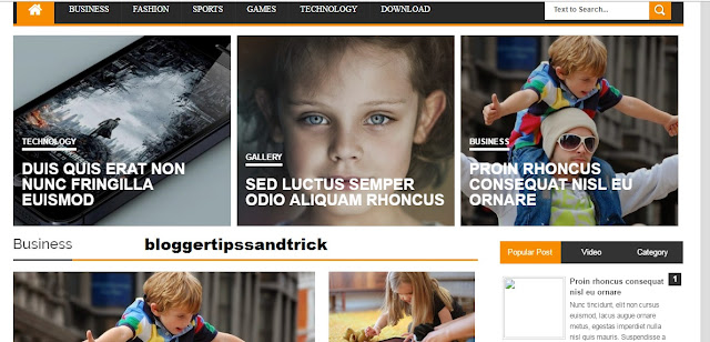 ARES Blogger Responsive SEO Friendly Template