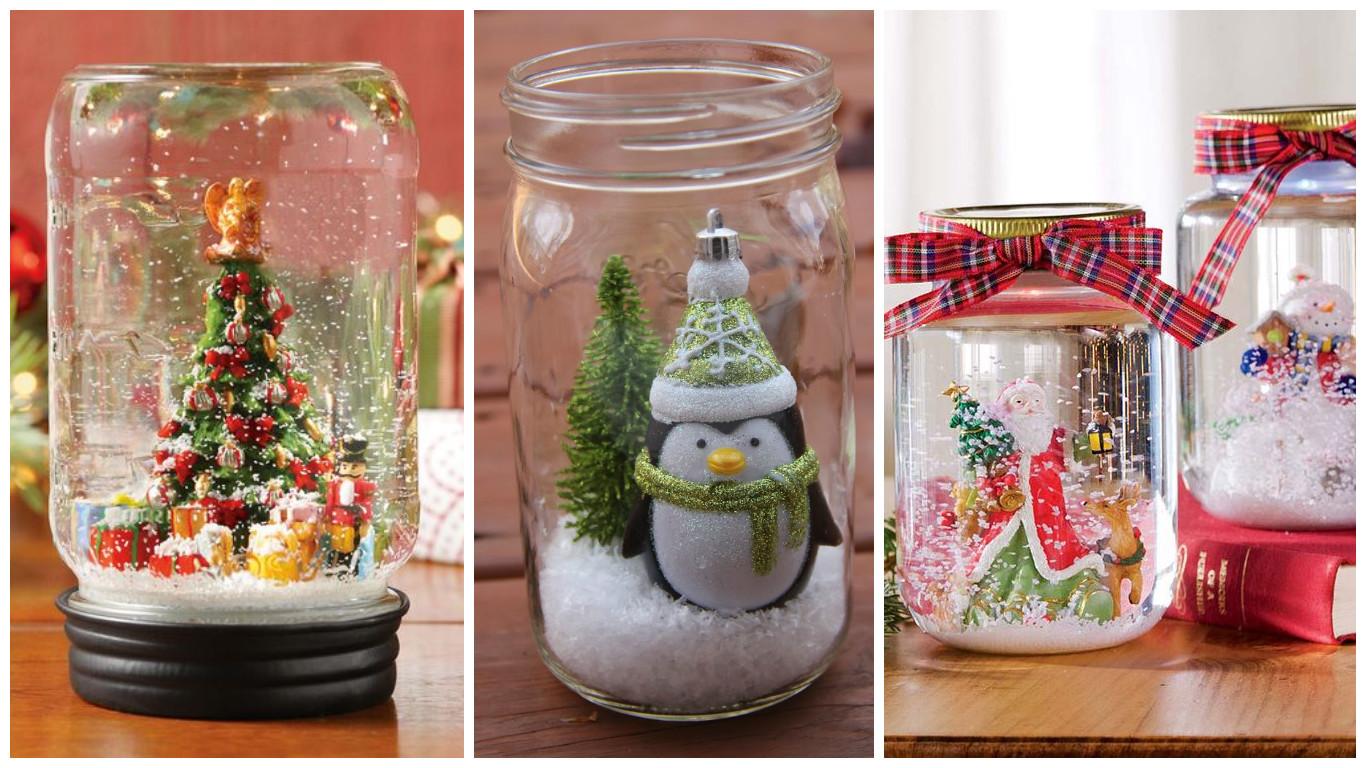 Adornos navideos con frascos de vidrio reciclados lodijoella