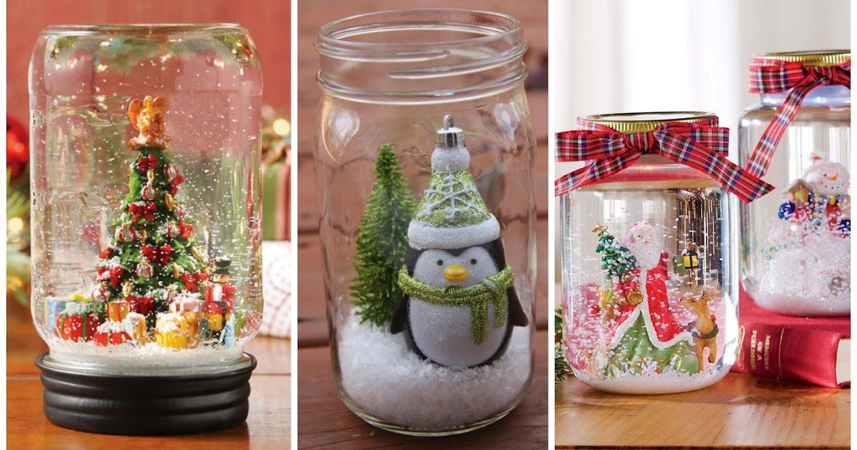 Adornos navide os con frascos de vidrio reciclados - Ideas para hacer adornos navidenos ...