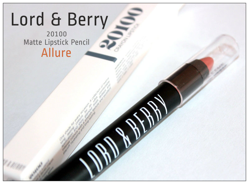 Review: Lord & Berry 20100 Matte Lipstick Pencil (Allure).