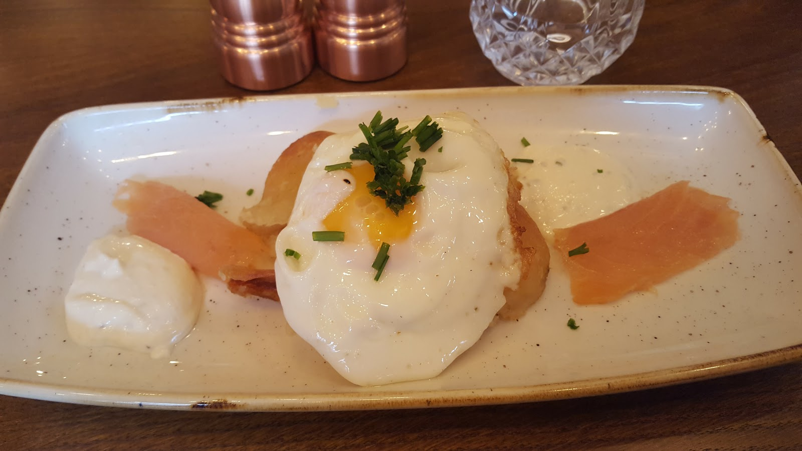 Smoked Salmon and Fried Egg