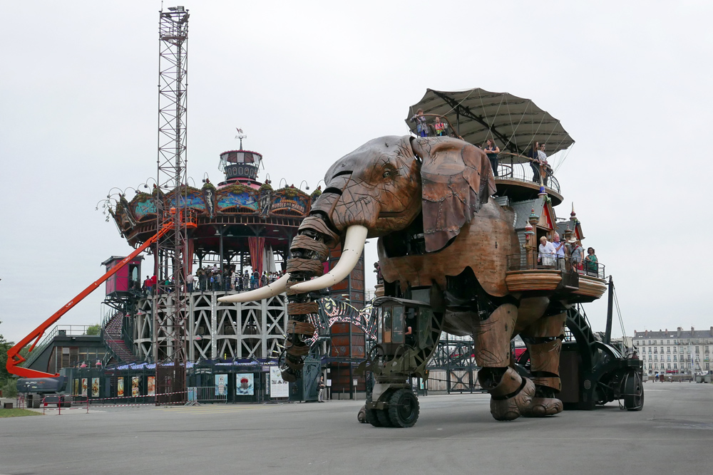 L'éléphant et le manège des machines de l'île de Nantes