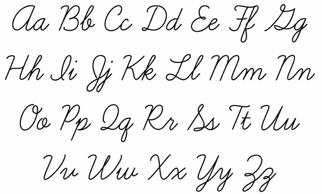 Learning nice handwriting alphabet