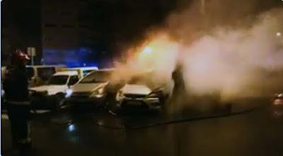 Daños en coches por incendio Las Palmas  de Gran Canaria