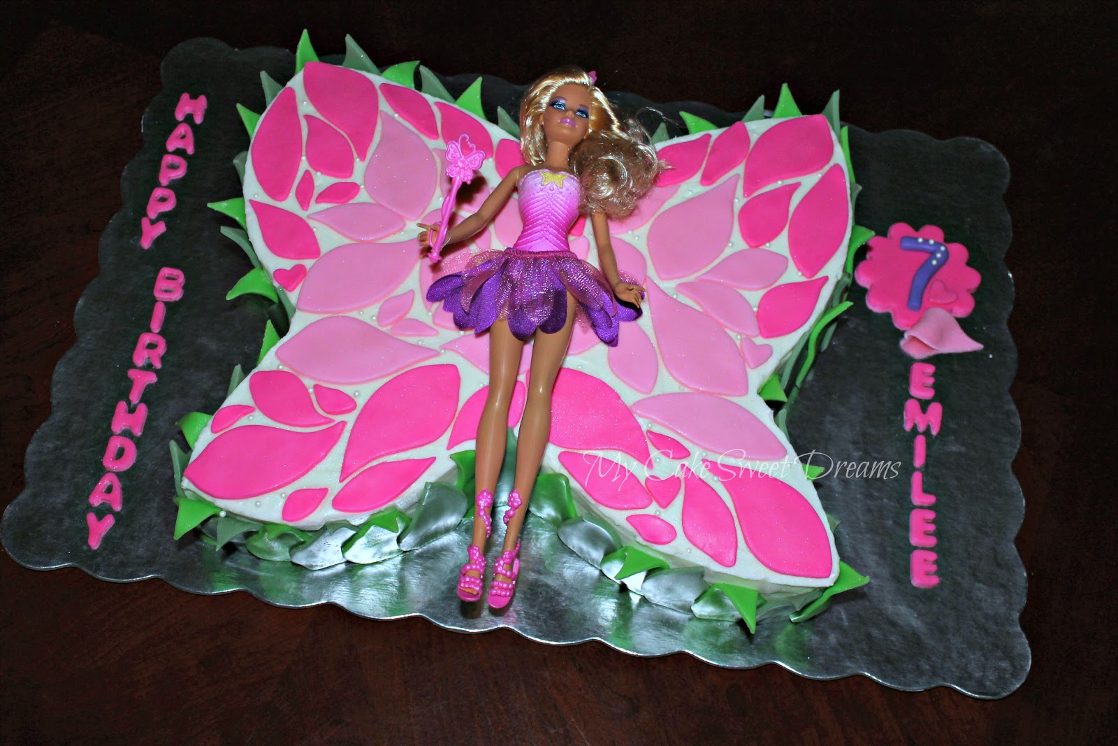 My Cake Sweet Dreams Barbie Butterfly Cake