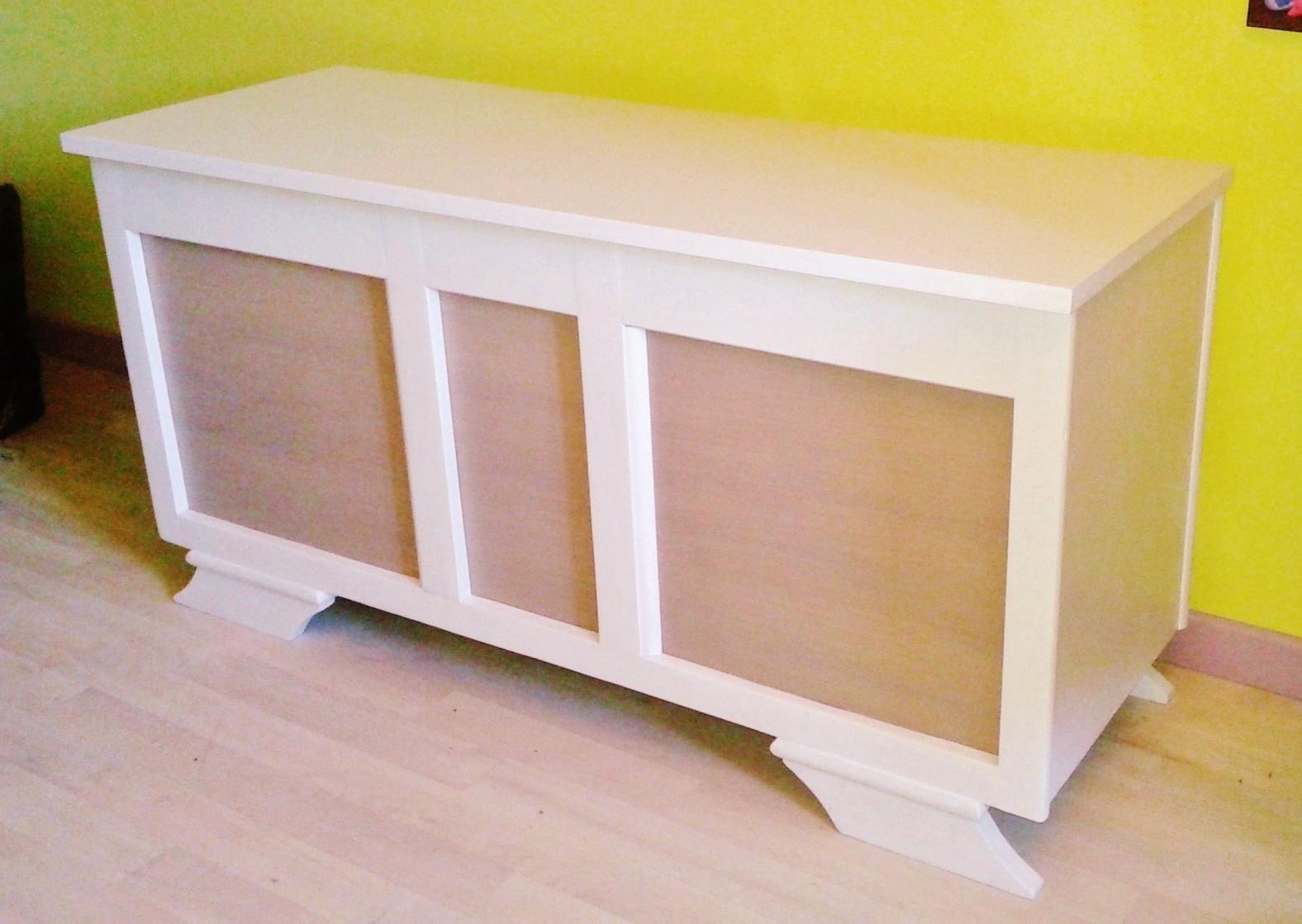 o 39 bois recycl grand coffre jouet longueur 1m21. Black Bedroom Furniture Sets. Home Design Ideas