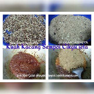 Resepi Kuah Kacang Sempoi