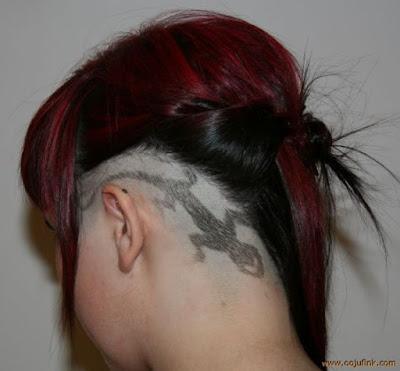 tato rambut model cicak