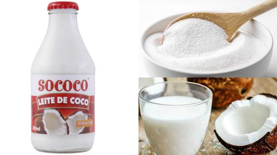 hidratacao leite de coco e acucar