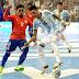 #CopaAmericaFutsal: Argentina aplastó a Chile y está en semifinal