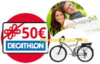 Logo Concorso ''Più Mukki più vinci'' : card Decathon da 50 euro, Svago 2x1 e Bici elettrica