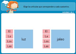 http://www.primerodecarlos.com/TERCERO_PRIMARIA/archivos/actividades_tilde_tercero/4/genero_numero_nombre.swf
