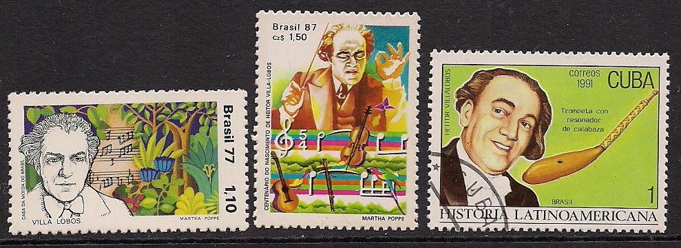 Afbeeldingsresultaat voor Heitor Villa-Lobos stamp