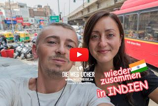 Weltreise meine Freundin Katja kehrt zurück nach Neu-Delhi in Indien