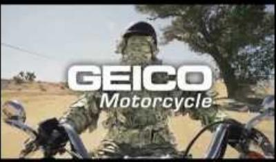 The redhead in geico motorcycle commercial think, that