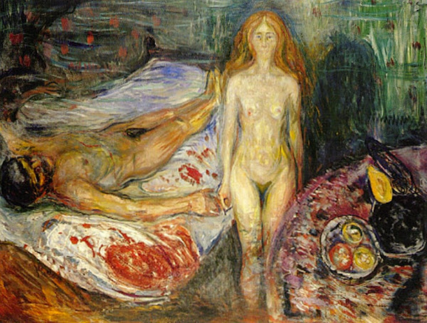 Death of Marat, Edvard Munch, Macabre Art, Macabre Paintings, Horror Paintings, Freak Art, Freak Paintings, Horror Picture, Terror Pictures