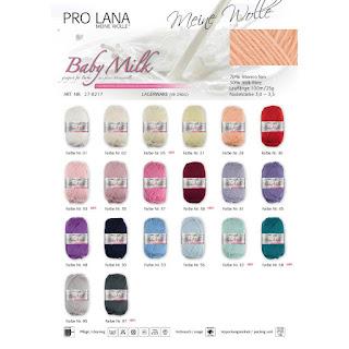 Pro Lana Babymilk, Wolle zum Stricken von Babysachen in vielen Farben
