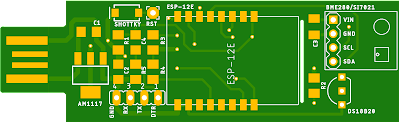 SensorNode pcb top side