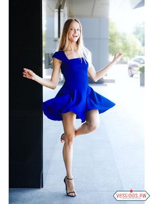 Vestidos De Coctel Color Azul Rey Vestidos Populares 2019