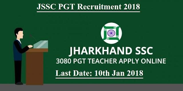 Jharkhand PGT Recruitment 2017-18