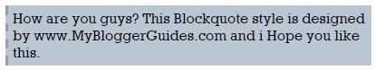 Blogger Blockquote Style 24