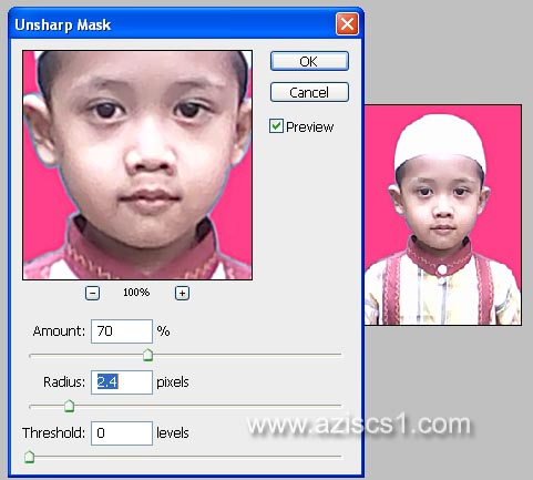 Menajamkan Foto dengan Filter Unsharp Mask - Blog azis Grafis