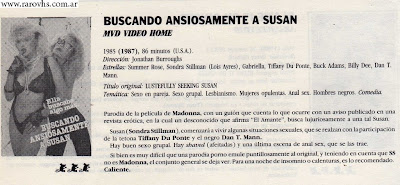 Scan: Video Sex (Catálogo VHS XXX): Letra B