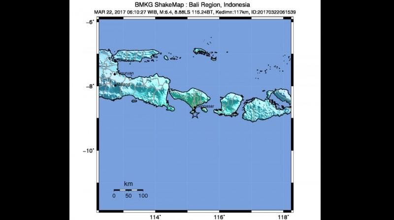 Gempa 6,5 SR guncang Denpasar