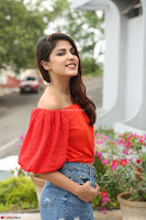 Rhea Chakraborty in Red Crop Top and Denim Shorts Spicy Pics ~  Exclusive 124.JPG