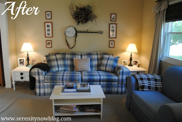 Family Room Makeover with New Furniture Serenity Now blog