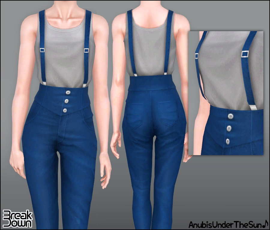 anubis sims stuff break down high waisted outfit with