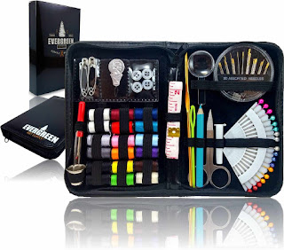 SEWING KIT ★ THE MOST EXPANSIVE & HIGHEST QUALITY KIT ★ - Includes All You Need & More! Perfect as a Beginner Sewing Kit, Travel Sewing Kit, Campers, Emergency Sewing Kit & More! - Offered by Evergreen Art Supply