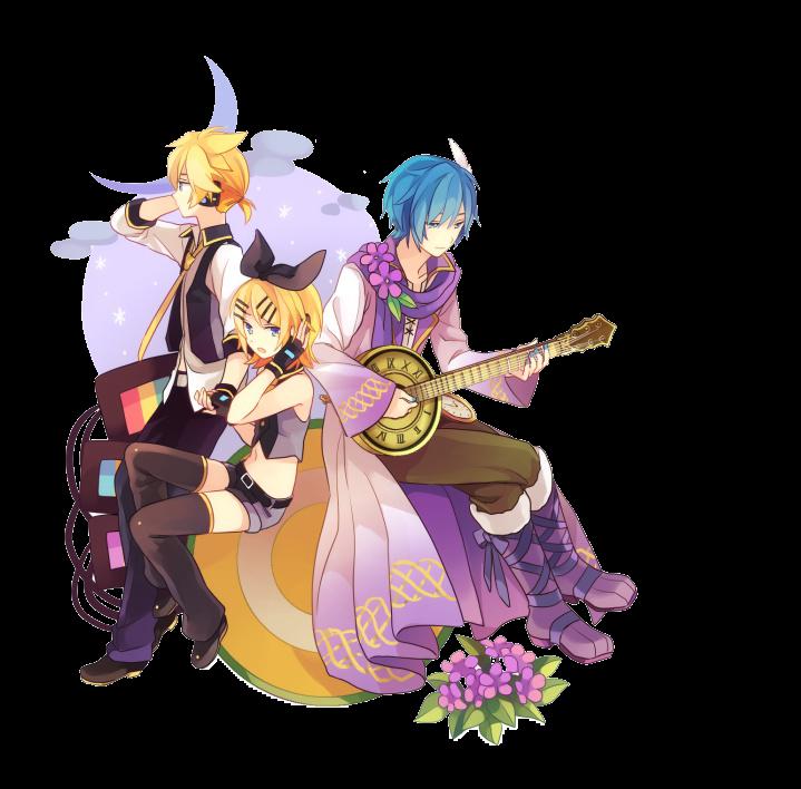 render Kaito, Len y Rin Kagamine