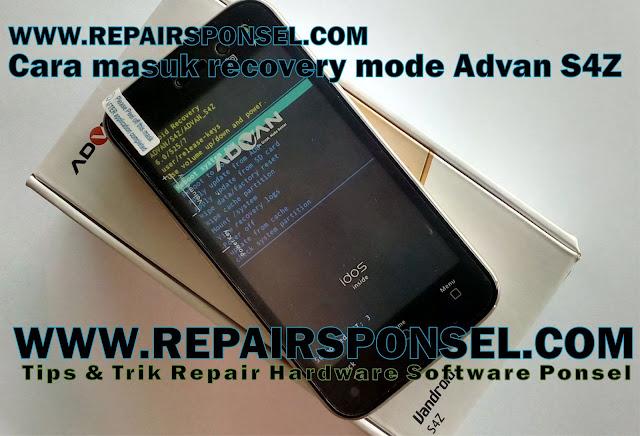 Cara Masuk Recovery Mode Advan S4Z