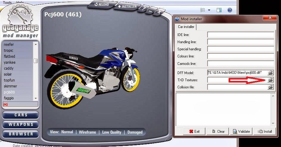 Cara Mod Kendaraan Menggunakan GGMM GTA San Andreas 4