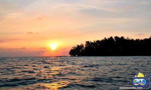 suasana pagi di wisata pulau tidung