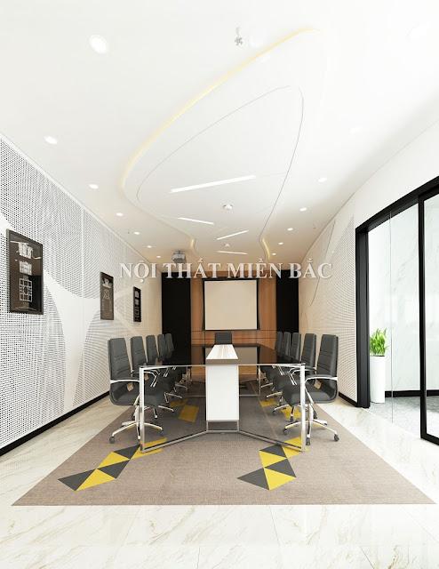 Thiết kế nội thất phòng họp đẹp tạo không gian phòng họp trẻ trung