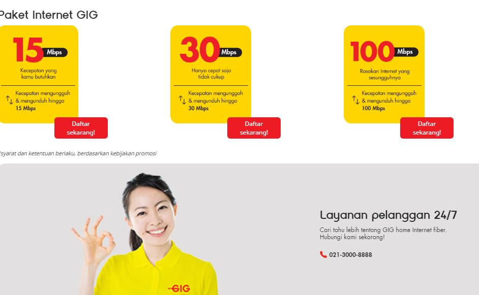 Harga Indosat Ooredoo Gig 2019, Internet Rumah