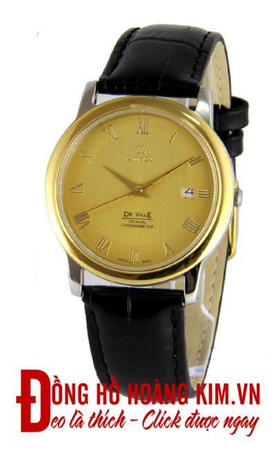 đồng hồ nam dây da omega giảm giá thời trang