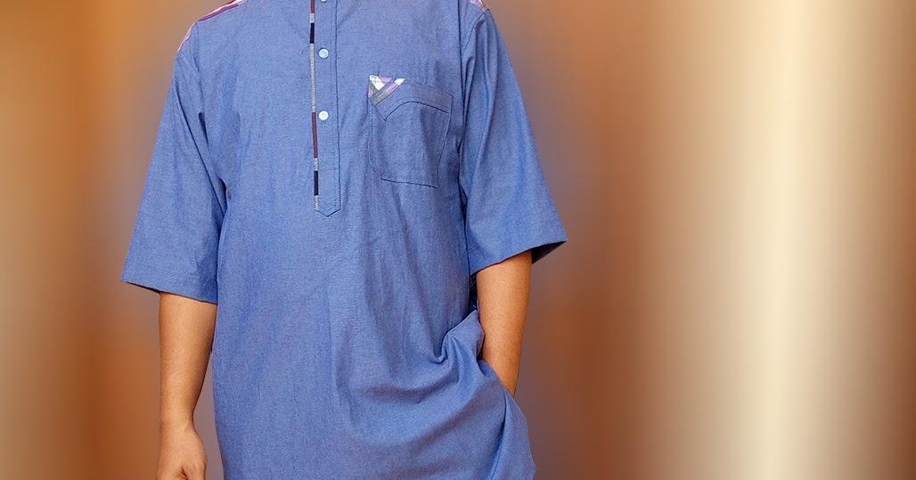 Baju Gamis Pria Terbaru Denim